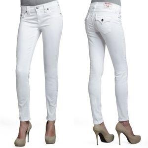 True Religion White Serena Skinny Jeans